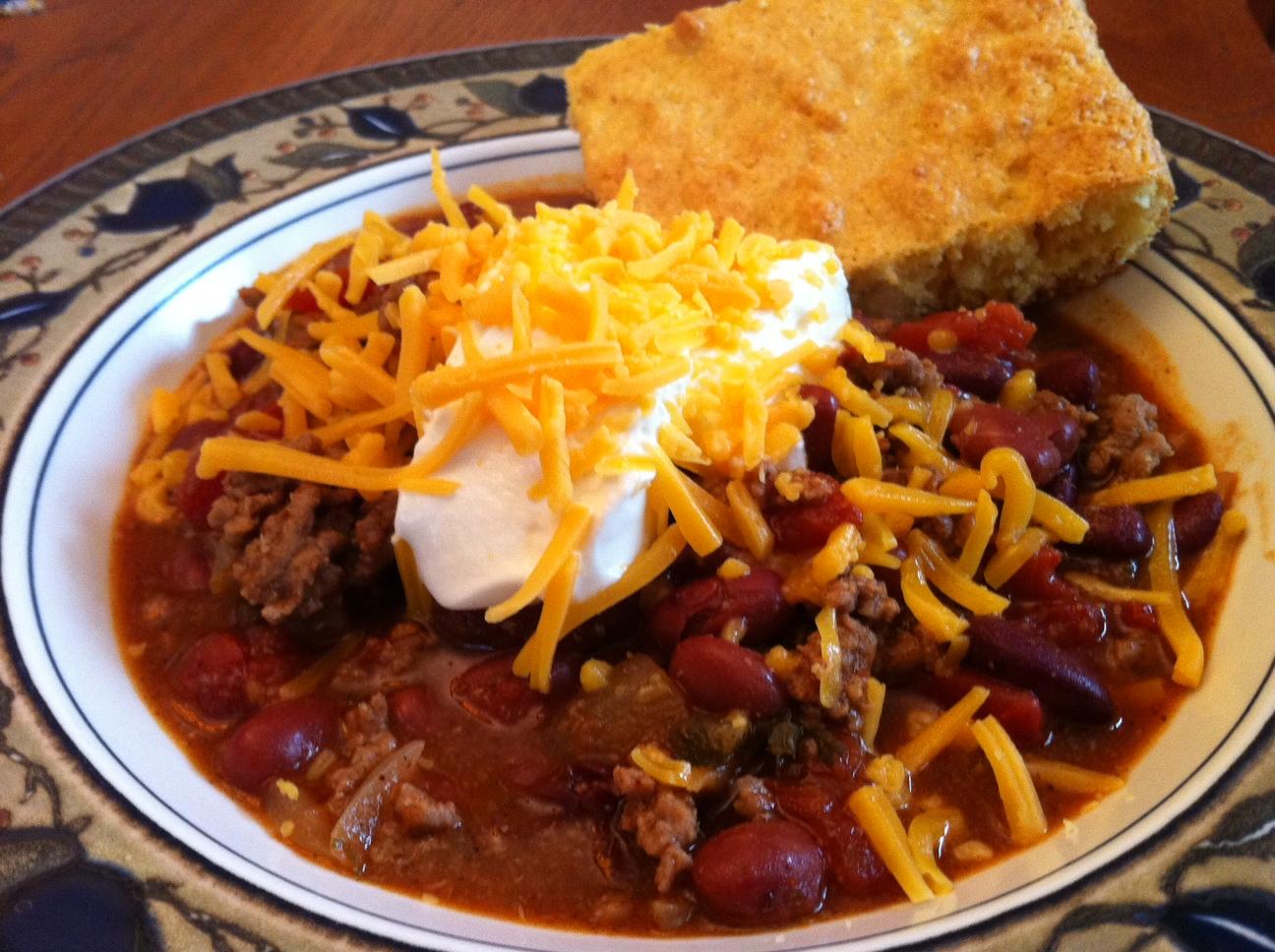 30 MINUTE CHILI & CORNBREAD | Food/Snacks & Recipes | Pinterest