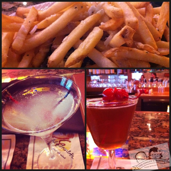 Eddie's drinks and fries