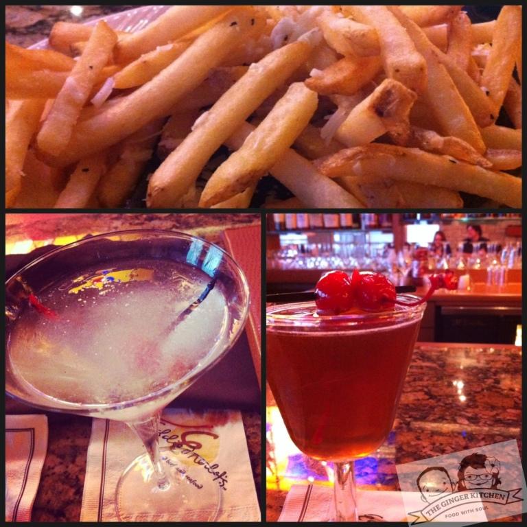 Eddie's drinks and fries
