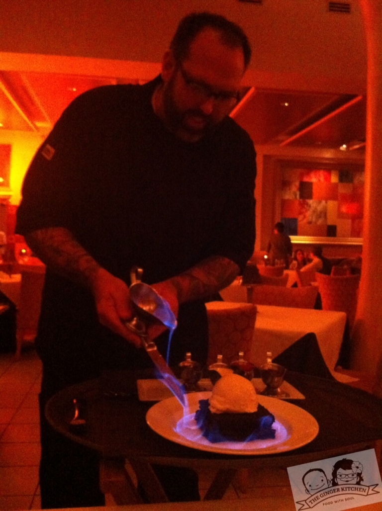Matt Nolot wows us with his Flaming Chambord Brownie