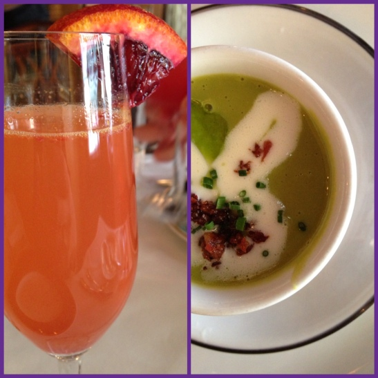Mimosa and soup