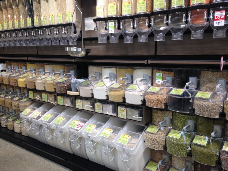 Earth Fare's bulk section is seemingly endless!